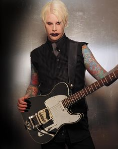 """John5. Former Marilyn Manson guitarist, now on tour with Rob Zombie. Amazing and radically diverse. His solo records range from country """"pickin'"""" style guitar to metal. Met him at NAMM a few years back, really cool guy!"""