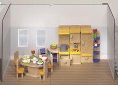 Goki - Houten poppenhuis meubels - Keuken 37-delig