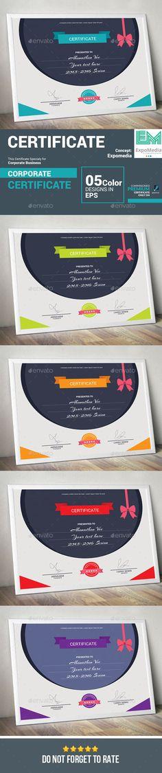 Certificate #eps #ai #template