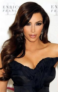 Kim Kardashian's hair is to die for! But I suppose if I could afford daily blowouts and quality extensions, my hair would be bangin', too.