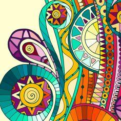 Mandala Drawing, Mandala Art, Abstract Drawings, Art Drawings, Tribal Pattern Art, Dibujos Zentangle Art, Composition Painting, Batik Art, Silk Art