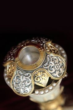 Byzantine Art, Bookbinding, Rings For Men, Brooch, Pearls, Silver, Handmade, Leather, Jewelry