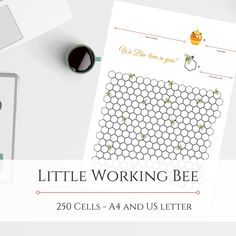 Little Working Bee Debt Free Chart 250 cells Savings Chart, Working Bee, Goal Charts, Bee Theme, Debt Free, My Etsy Shop, Notes, Printables, Lettering