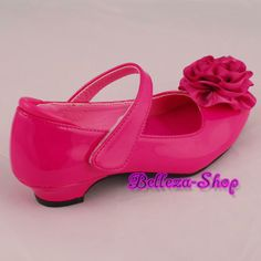 Hot pink wedding flower girl pageant dress shoes 125 hot pink diamante mary janes velcro shoes wedding party hot pink us size 3 euro 345 003 mightylinksfo Choice Image