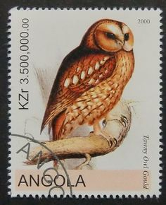 5730 Framed Postage Stamp Art Tawny Owl by PassionGiftStampArt, $12.90