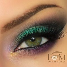 Green, purple and black