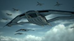 "The 9th Tactical Fighter Squadron ""Strigon"" was launched from the Aigaion in an attempt to intercept the Emmerian aircraft, but were soon shot down. Description from deviantart.com. I searched for this on bing.com/images"