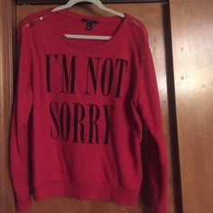 Red Forever 21 sweater Crew neck from forever 21 with zippers on the sleeves, worn once, in excellent condition! Make me an offer!:) Forever 21 Sweaters Crew & Scoop Necks