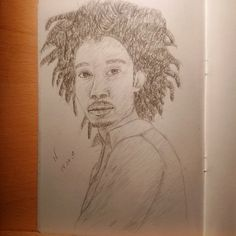 'My druggy, love. when im ugly, hug me.. when I'm bummy, scummy.. i'm your hubby, let's get lost..' #instaart #portrait #pencil #drawing #illustration #sketchbook #blackart #youngblackartists #blah