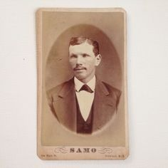 CDV Photo Samo Buffalo NY Cabinet Card Handsome Man Antique Photograph