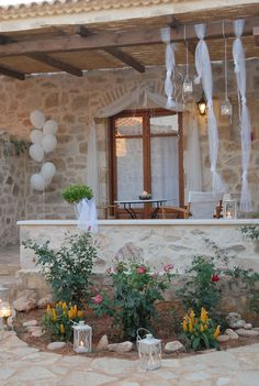 Paliokaliva village is a private complex just 1 km from Tsilivi resort with 18 stone-built, fully private traditional villas, studios, and apartments Zakynthos Greece, Greece Islands, Dreaming Of You, Dream Wedding, Fairy, Romance, Traditional, Table Decorations, Romance Film