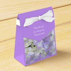 Purple Hydrangea Bridesmaids Thank You Gift Box Party Favor Boxes