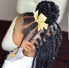Little Girls Natural Hairstyles, Toddler Braided Hairstyles, Kids Curly Hairstyles, Black Little Girl Hairstyles, Little Girl Braids, Braids For Kids, Girls Braids, Cornrow Styles For Kids, Braids For Black Kids