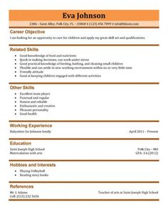 Teen Resume Template Blank Resume Template For High School Students  Httpwww