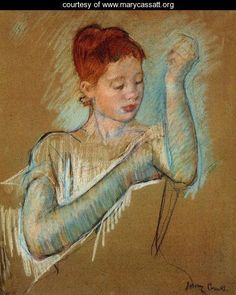 Mary Cassatt-The Pagan Sphinx: Women's History Month and Artist of the Week