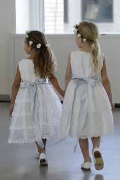 Flower girls. From the Oscar de la Renta Spring 2016 Bridal Collection.