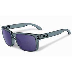 Oakley Holbrook Sunglasses - Crystal Black ~ Violet Iridium