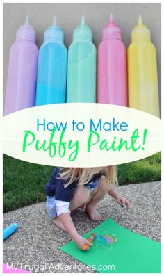 How to Make Puffy Paint- a few ingredients you probably have on hand!