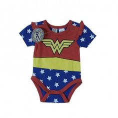 For the Geeky Future Mom in all of us. Baby Wonder woman Bodysuit/costume