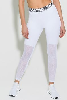 Roar Tights White Front