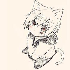 Anime Cat Boy, Chibi, Vocaloid, Art Reference, Otaku, Avatar, Fan Art, Cats, Drawings
