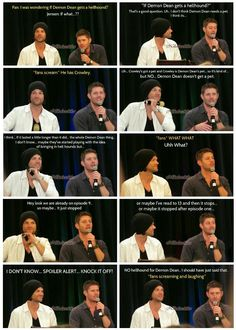 """If it lasted a little longer than it did... the whole Demon Dean thing.."" Jensen talks about demon!Dean. #DallasCon14"