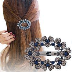 hair clips for women crystal: Cheapest Haimeikang Women Fashion Hollow Rhineston...