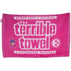 Custom Printed Pittsburgh Steelers Pink Break Cancer Awareness Terrible Towel Personalized With The Name Of Your Choice. Steelers Pics, Steelers Gear, Steelers Football, Pittsburgh Steelers, Pink Football, Steeler Nation, Breast Cancer Awareness, Nfl, Penguins