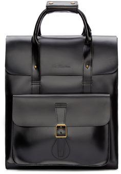Dr. Martens Black Leather Large Rucksack Black Leather Backpack ede2ebe5e138d