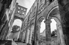 Abbaye de Jumieges, old ruins shot in black and white, located in Normandy, france Normandy France, Brooklyn Bridge, All Pictures, Digital Art, Shots, Photoshop, Black And White, Photography, Travel