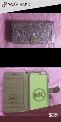 MK Metallic Pink Wallet Style IPhone 7 Plus Case MK Metallic Pink Wallet Style IPhone 7 Plus Case Accessories Phone Cases