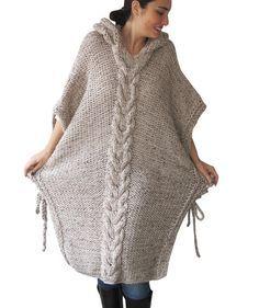 750ad4a9bcd7c9 20% WINTER SALE NEW Plus Size Maxi Knitting Poncho with by afra Krosna  Dziewiarskie,