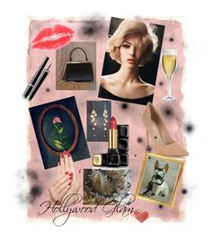 """""""Hollywood Glam"""" by sweetpearomance on Polyvore featuring Rothko, Lipsy, Chanel, Guerlain, Piggy Paint and Riedel"""