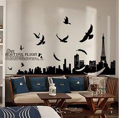 04cc4fc4001 [ Diy Wall Stickers Paris Eiffel Tower Sticker Home Decor Wallpaper Vine  Decoration Removable ] - Best Free Home Design Idea & Inspiration