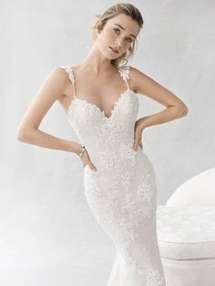 Ella Rosa Style BE384 | gorgeous embroidery lace | romantic wedding dress | bridal gown