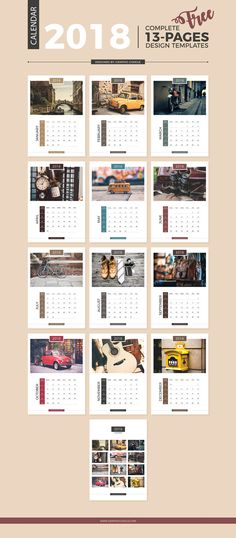 Free-13-Pages-Complete-2018-Calendar-Design-Templates