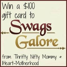 IHeart-Motherhood: Swags Galore Review and Giveaway http://www.iheart-motherhood.com/2013/08/swags-galore-review-and-giveaway.html