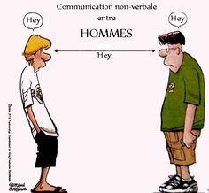 La communication chez les hommes...