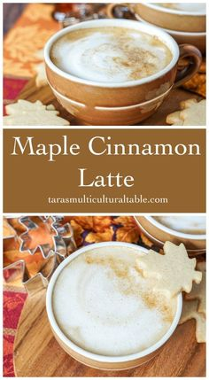 A recipe for a Maple Cinnamon Latte. Hot espresso is combined with maple syrup, and steamed milk. Top the latte with a pinch of cinnamon if desired. Latte Macchiato, Banana Coffee, Coffee Latte, Starbucks Coffee, Hot Coffee, Espresso Latte, Coffee Logo, Coffee Girl, Coffee Creamer