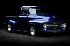 Custom Blue 1956 Ford F100! Whether you're interested in restoring an old classic car or you just need to get your family's reliable transportation looking good after an accident, B & B Collision Corp in Royal Oak, MI is the company for you! Call (248) 543-2929 or visit our website www.bandbcollision.com for more information!