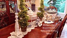 images of gorgeous rustic table place settings   Mother's Day Brunch Buffet Style:Table Setting Ideas