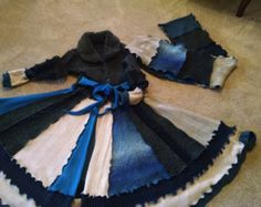 Patchwork coat elf coat Hippie Gypsy seam by boutiquedevosenvies