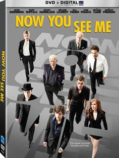 """A team of talented illusionists called """"The Four Horsemen"""" (played by Jesse Eisenberg, Woody Harrelson, Isla Fisher, and Dave Franco) are investigated by a resolute FBI agent (Mark Ruffalo) following"""