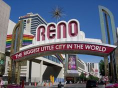Photos of the Truckee River Trail, Reno: Reno, Nevada Biggest Little City Sign