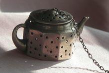 Sterling Silver Tea Ball in Shape of a  Tea Pot / Tea Cup Vintage