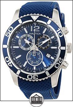 Nautica  a15103g - Reloj de cuarzo para hombre, con correa de silicona, color azul de  ✿ Relojes para hombre - (Gama media/alta) ✿