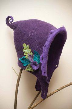 merino felt fairy hood