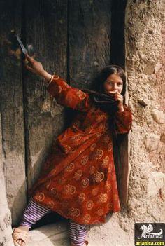 Bakhtiari nomad girl from southwestern Iran.