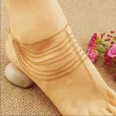 I just discovered this while shopping on Poshmark: New! Sexy gold PAIR of…