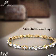 Bangle that would reflect your sense of style…#bangle #diamond #gold…